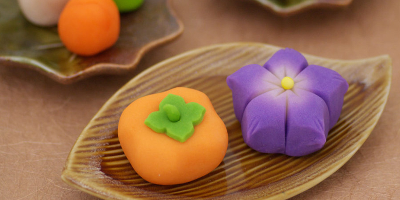 京菓子手作りキット上級編 – 秋(柿・桔梗)